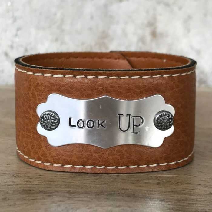 Look Up Leather Cuff