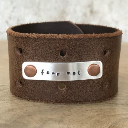 Fear Not Leather Cuff