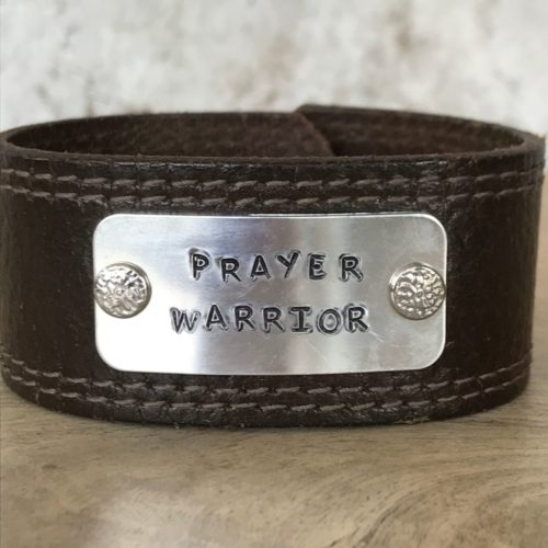 Prayer Warrior Leather Cuff