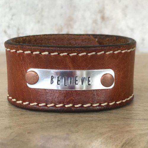 Believe Leather Cuff