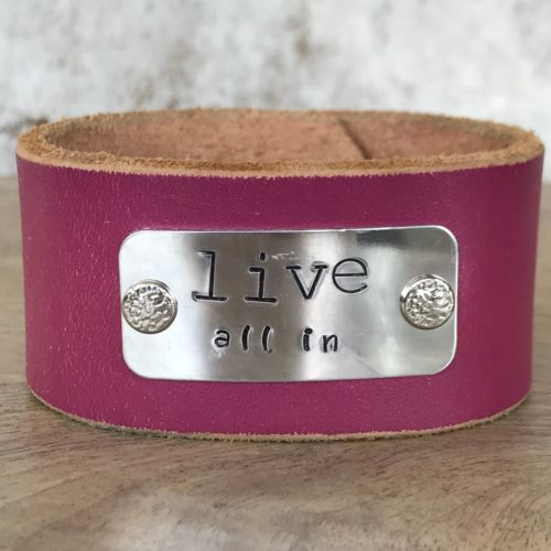Live All In Leather Cuff