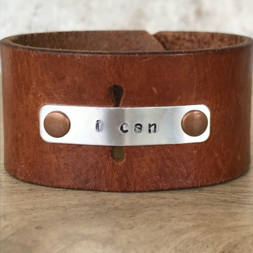 I Can Leather Cuff