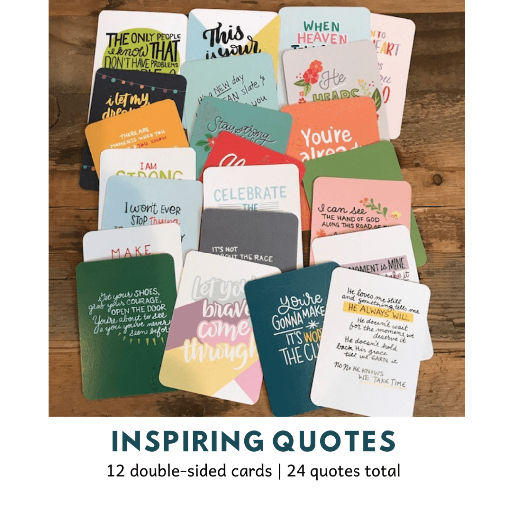 24 positive quote cards