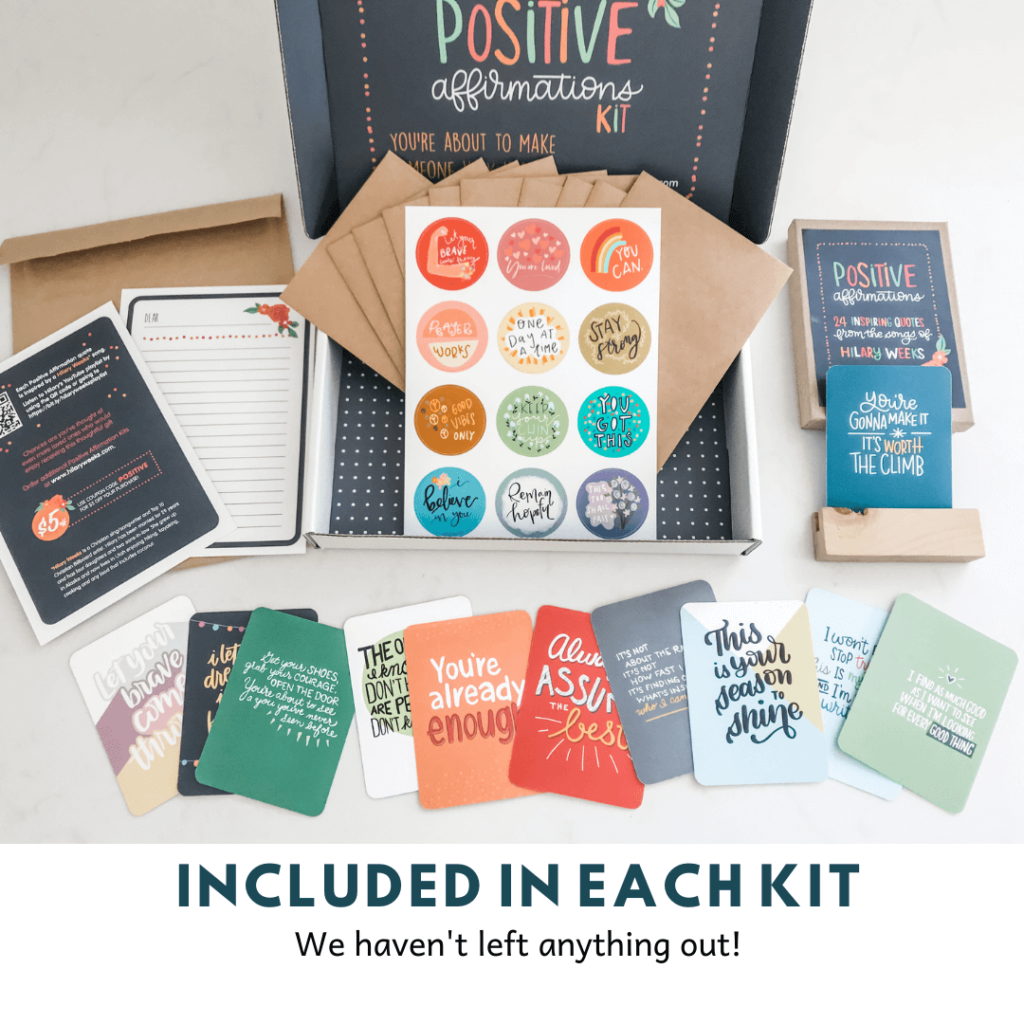 Uplifting quotes in Positive Affirmation Kit